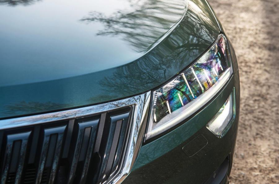 Skoda Karoq Scout 2019 road test review - headlights