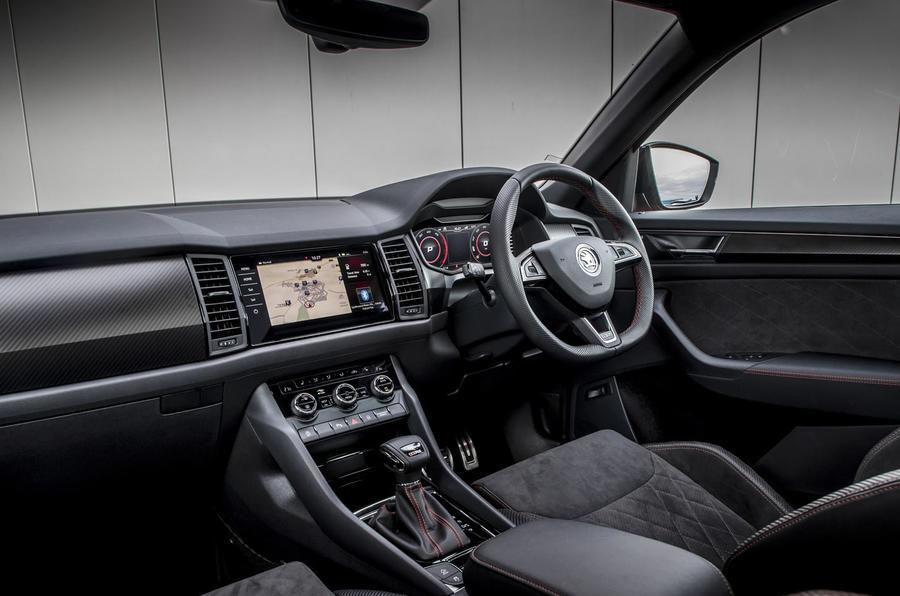 Skoda Kodiaq vRS 2019 road test review - dashboard
