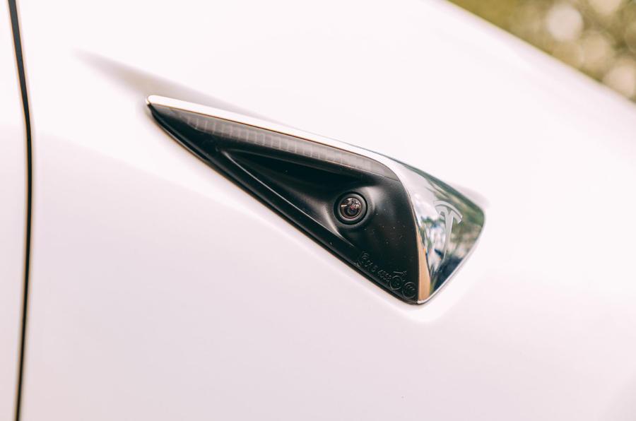 Tesla Model 3 road test - ADAS camera