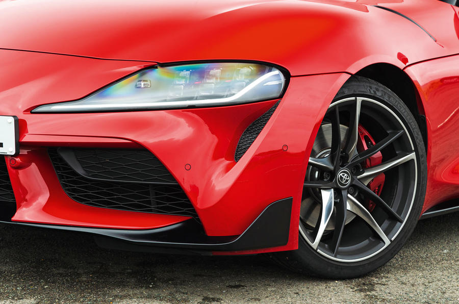 Toyota GR Supra 2019 road test review - front lights