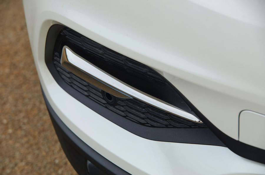 Vauxhall Grandland X Hybrid4 2020 road test review - front bumper