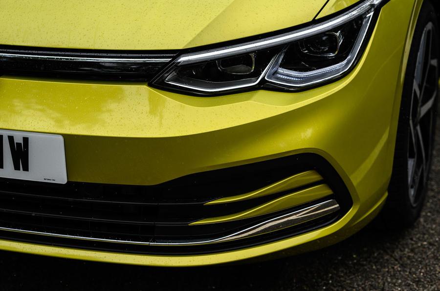 Volkswagen Golf 2020 road test review - front bumper