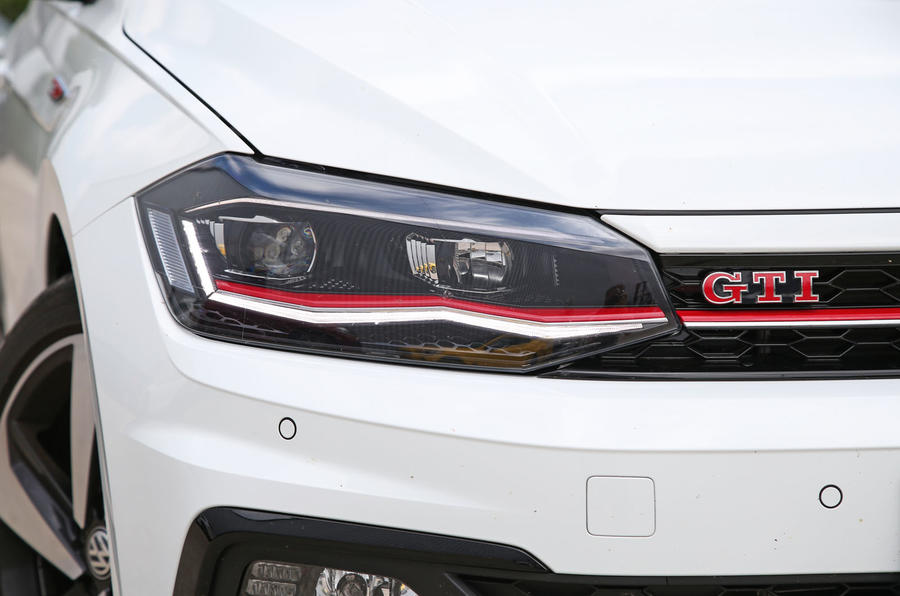 Volkswagen Polo GTI 2018 road test review headlights