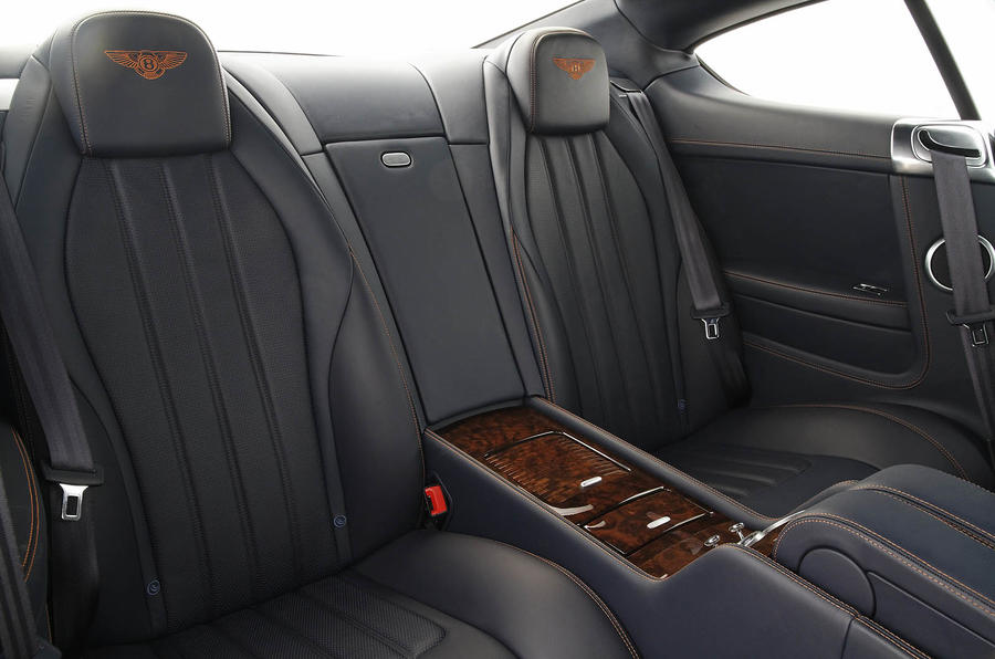 Bentley Continental GT rear seats