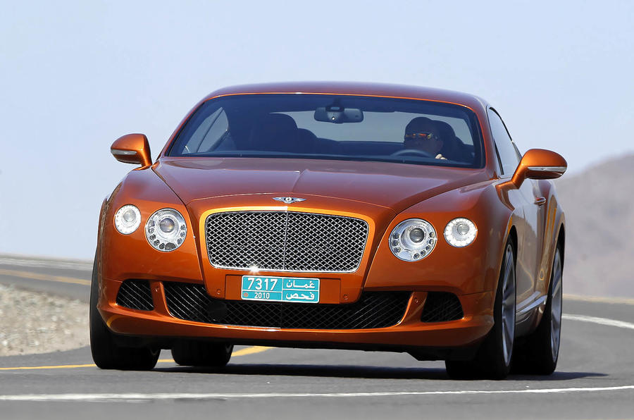 Bentley Continental GT cornering