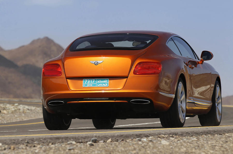 Bentley Continental GT rear cornering