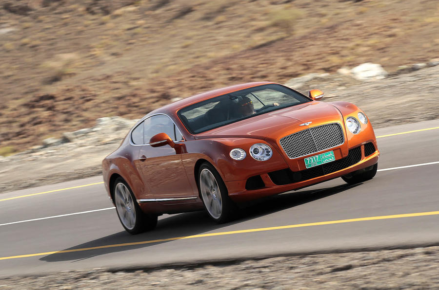 Bentley Continental GT on the highway