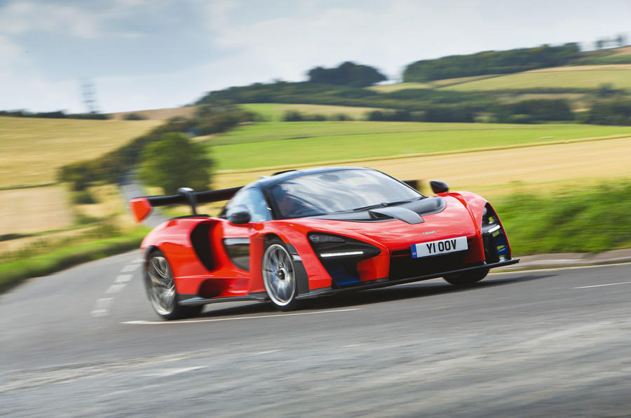McLaren Senna 2018 road test review - cornering front