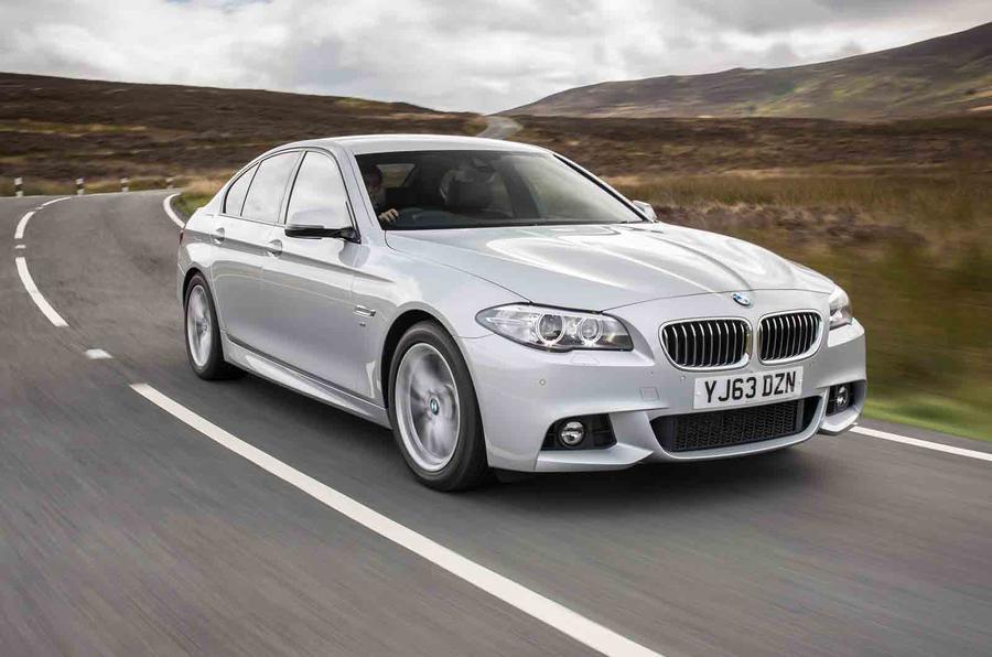 BMW 518d SE cornering