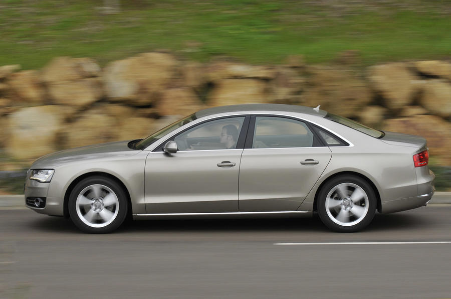 Audi A8 side profile