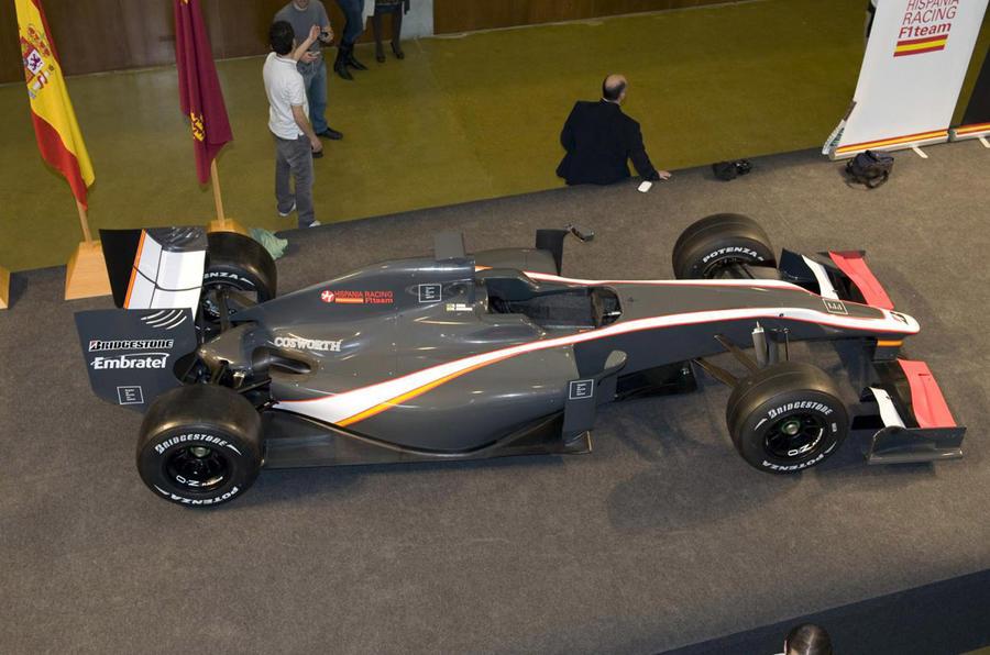HRT finally reveals its F1 car