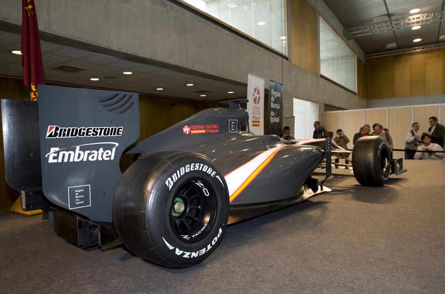 HRT finally reveals its F1 car