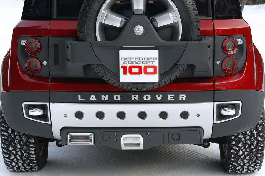 Land Rover Defender DC100 rear diffuser