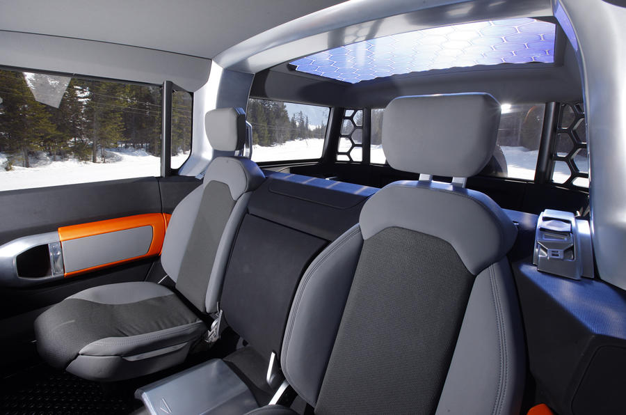Land Rover Defender DC100 rear seats