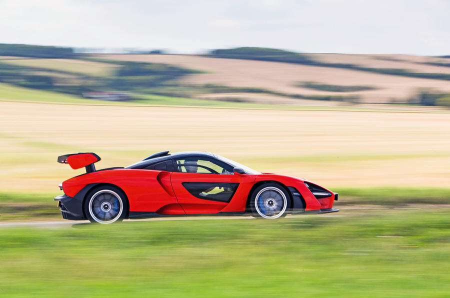 McLaren Senna 2018 road test review - on the road side