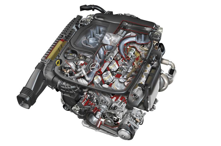 merc s new v6 and v8 engines autocar rh autocar co uk 3.8L V6 Engine Diagram 4 Cylinder Engine Diagram