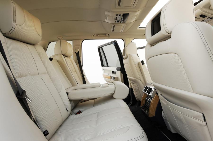 Range Rover TDV8 rear seats