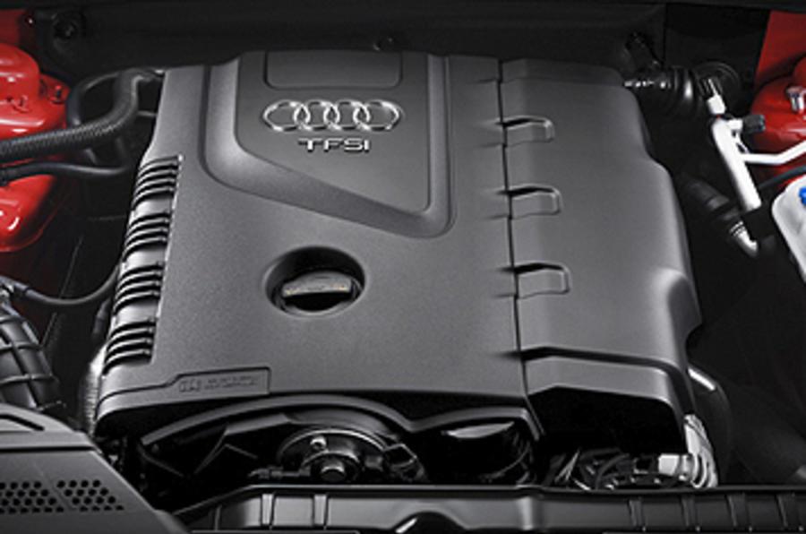 Audi A5 lightweight prototype engine bay
