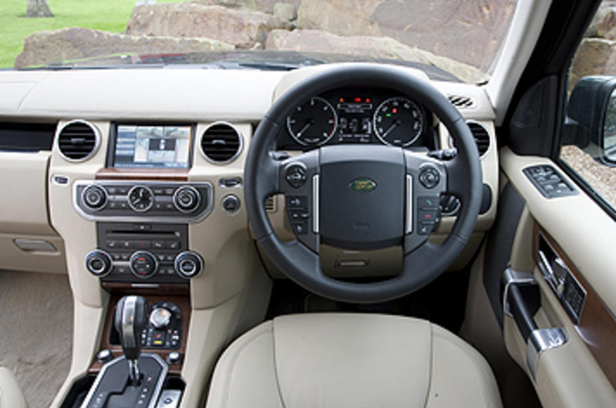Land Rover Discovery 4 dashboard
