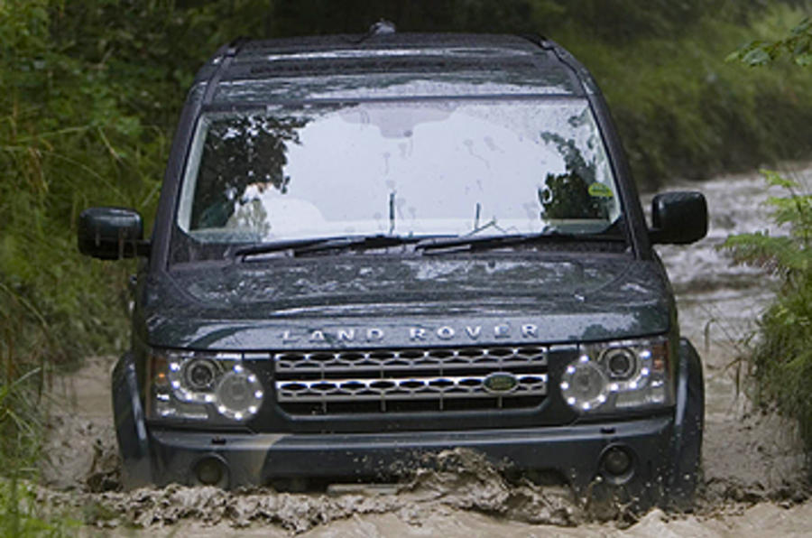 Land Rover Discovery 4 wading
