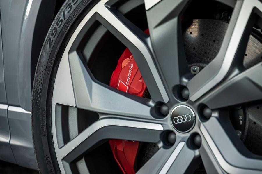Audi RS Q8 2020 road test review - brake calipers
