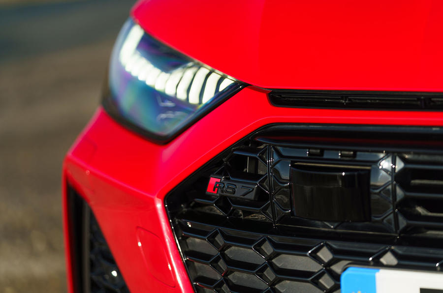 Audi RS7 Sportback 2020 road test review - front badge