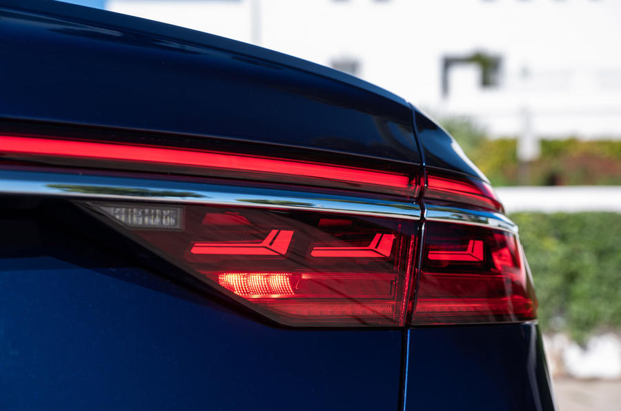 Audi S8 2020 road test review - rear lights