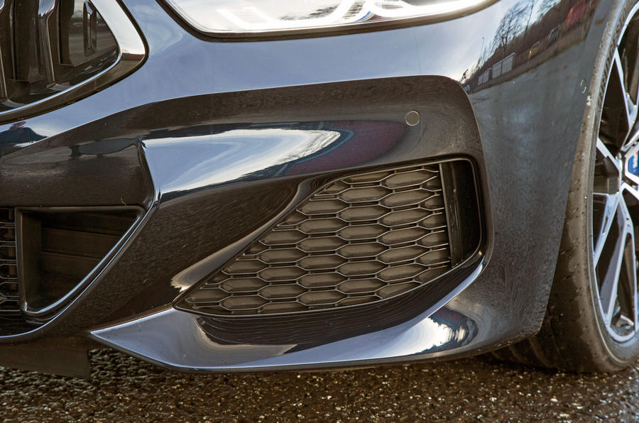 BMW 8 Series Coupé 2019 road test review - fake intakes