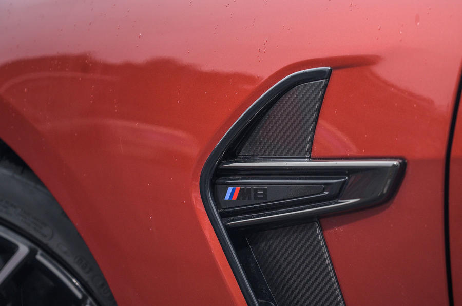 BMW M8 Competition convertible 2020 road test review - side details