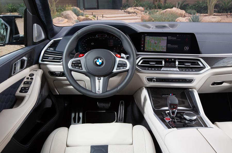 BMW X5 M Competition 2020 road test review - dashboard
