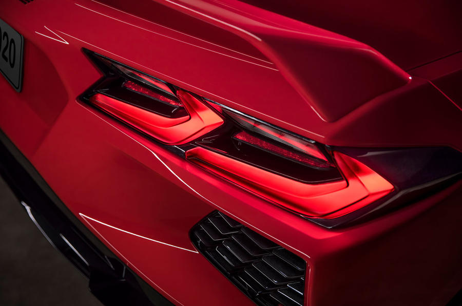 Corvette Stingray C8 2019 road test review - rear lights