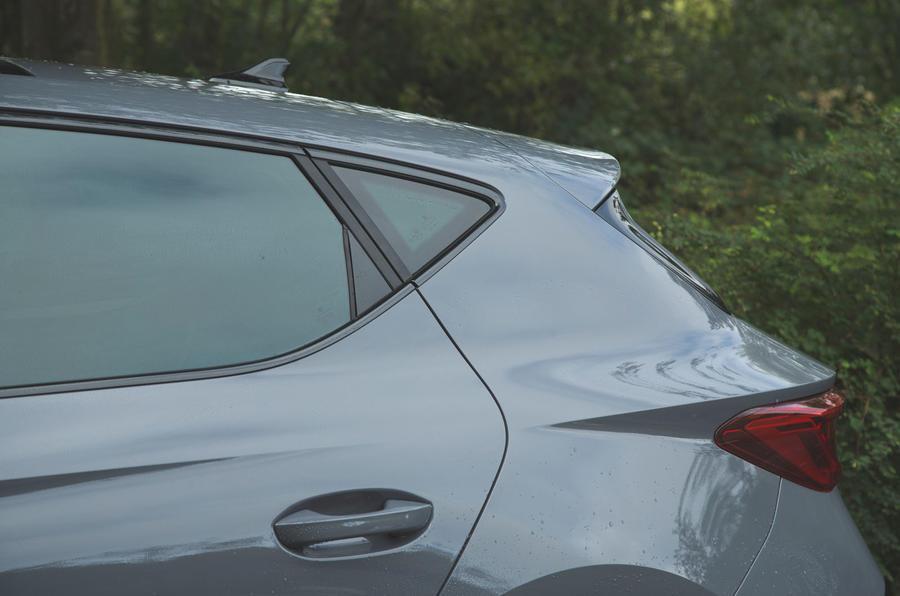 Cupra Leon 2020 road test review - rear three quarters