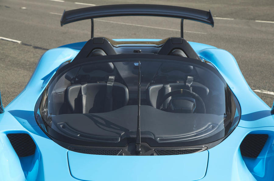 Dallara Stradale 2019 road test review - windscreen