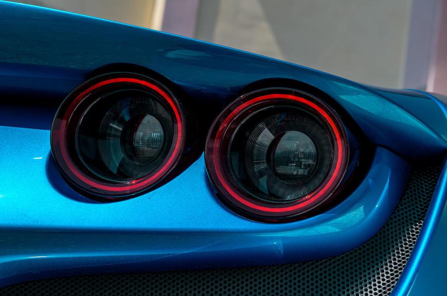 Ferrari F8 Tributo 2019 road test review - rear lights