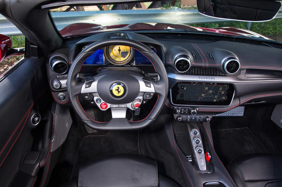 Ferrari Portofino review driving position