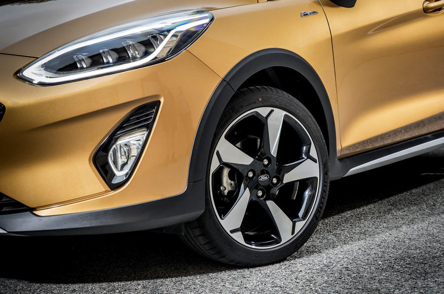 Ford Fiesta Active 2018 road test review alloy wheels