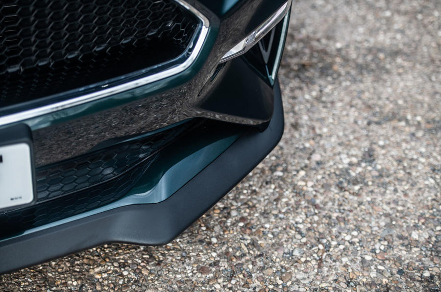 Ford Mustang Bullitt 2018 road test review - front splitter