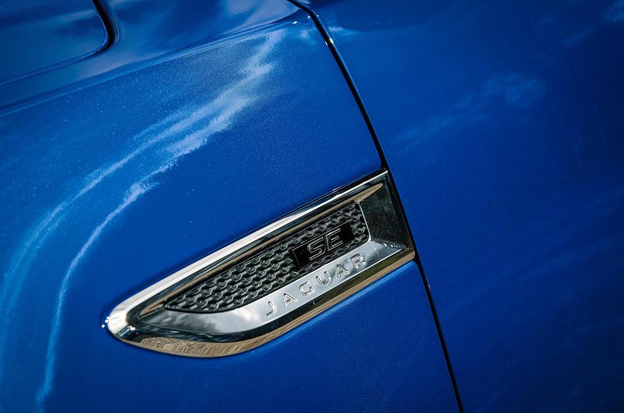 Jaguar E-Pace review body vents
