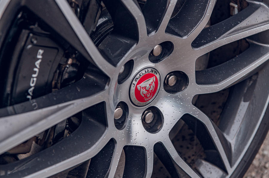 Jaguar F-Type 2020 road test review - brake calipers