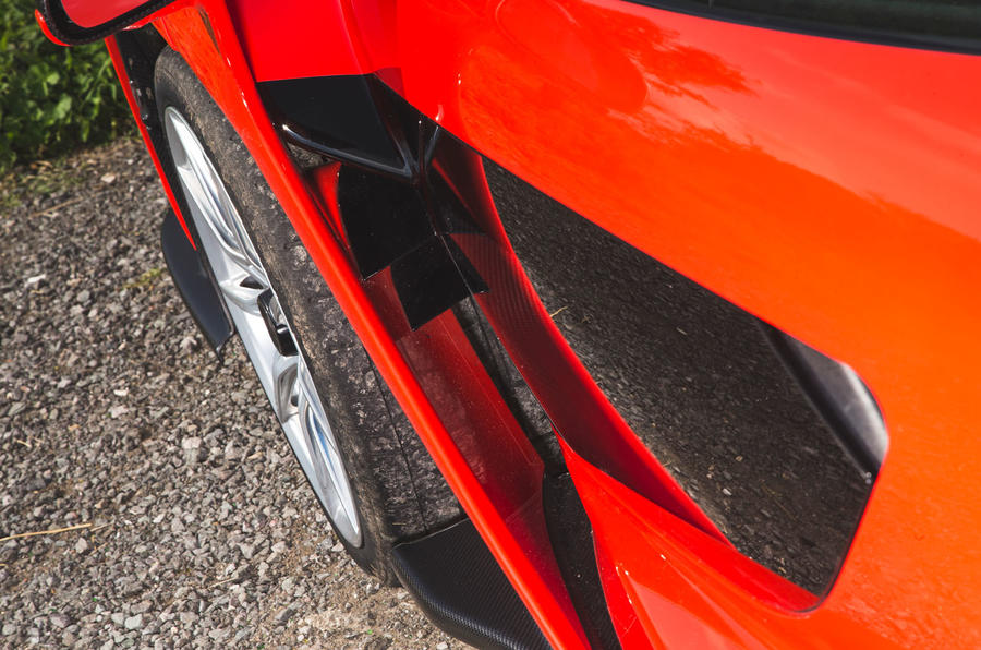 McLaren Senna 2018 road test review - wheel arch aero