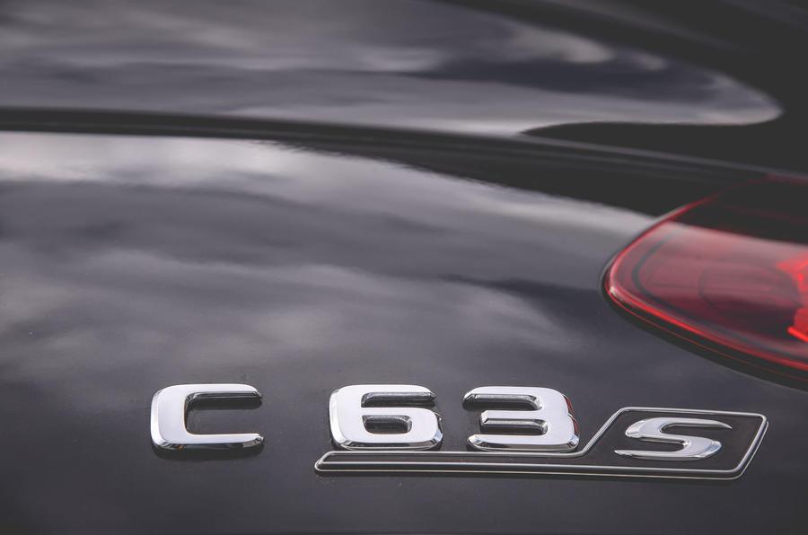 Mercedes-AMG C63 Coupé 2019 road test review - rear badge