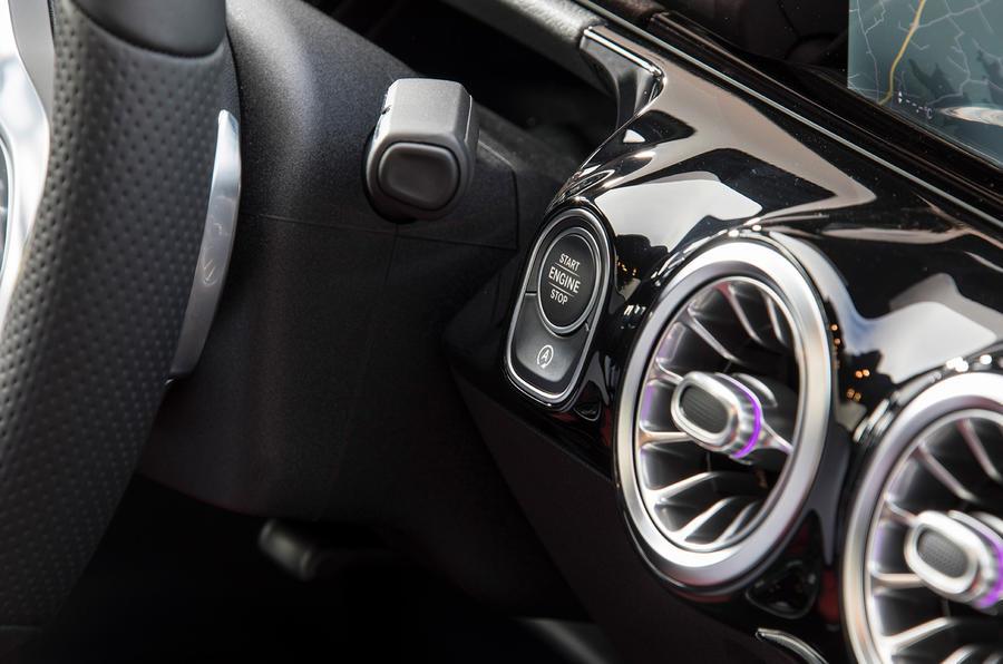 Mercedes-Benz B-Class review - start button