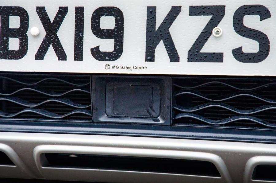 MG ZS EV 2019 road test review - ADAS sensor