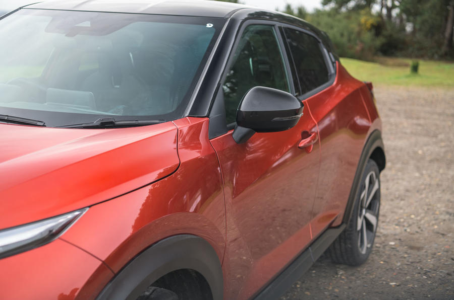 Nissan Juke 2020 road test review - wing mirror