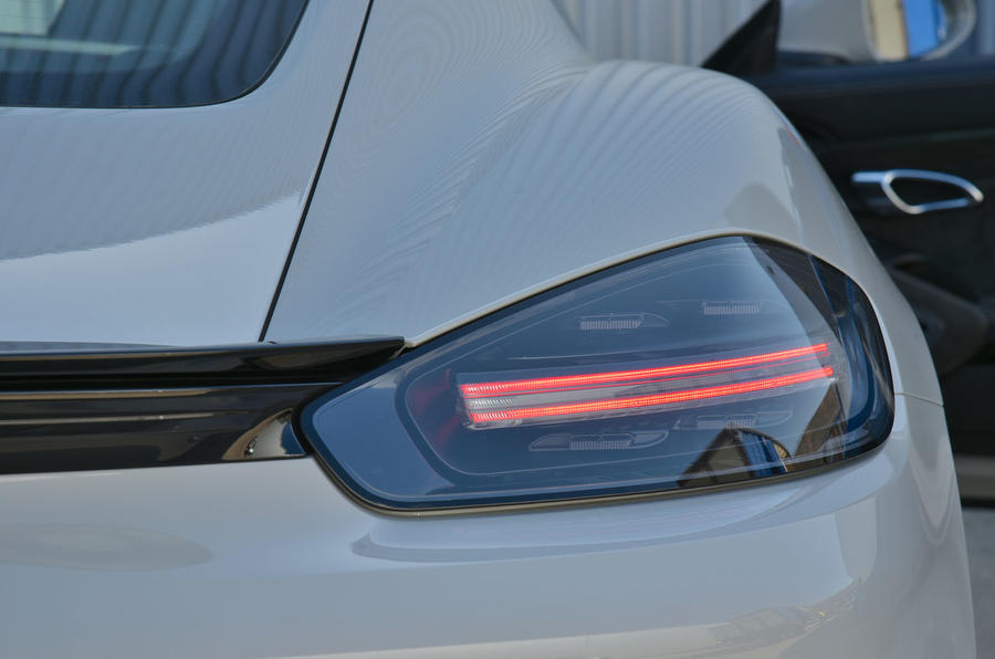 Porsche 718 Cayman GTS 2018 review rear lights