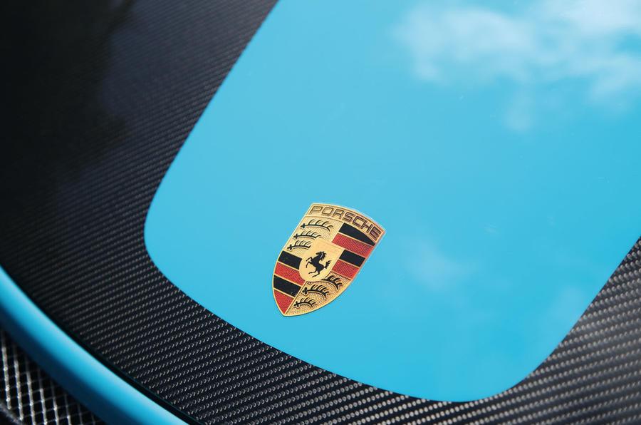 Porsche 911 GT2 RS 2018 road test review bonnet badge
