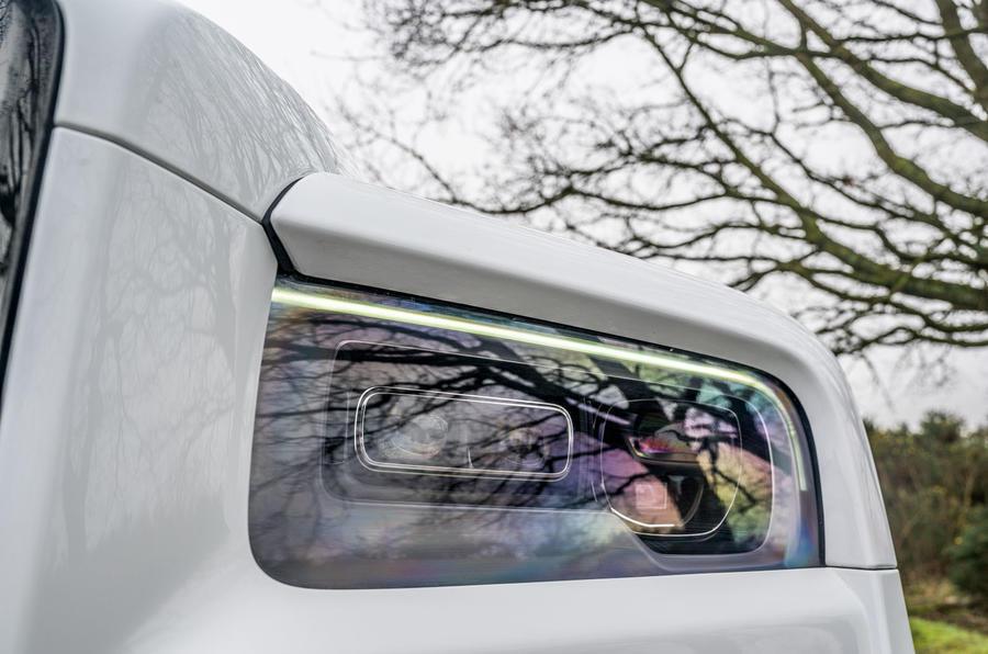 Rolls Royce Cullinan 2020 road test review - headlights
