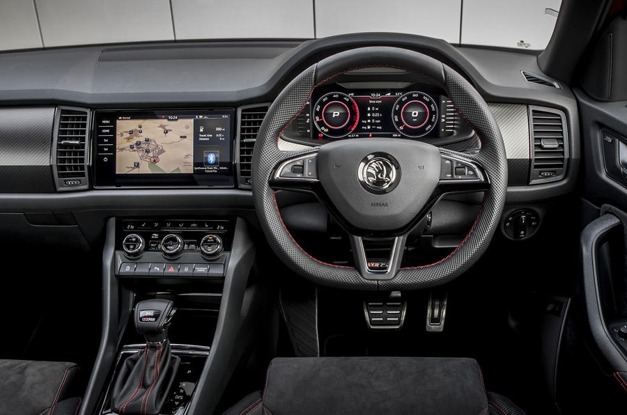 Skoda Kodiaq vRS 2019 road test review - steering wheel