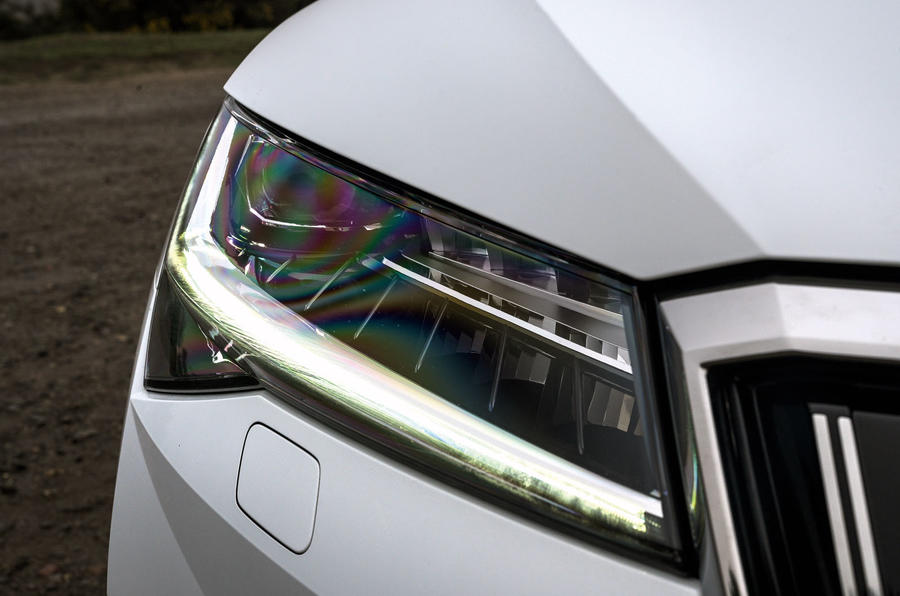 Skoda Superb iV 2020 road test review - headlights