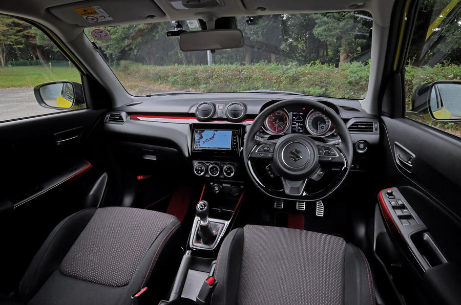 Suzuji Swift Sport Japan-spec review dashboard